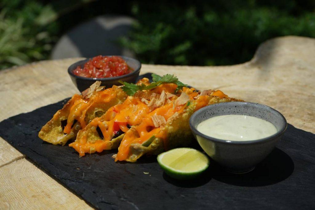Crisp California Roll Crab Tacos