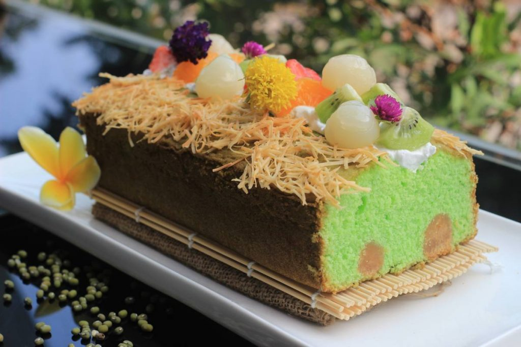 Chiffon Cheddar Cake - All About Mung Beans at GrandKemang Jakarta - the best hotel at South Jakarta