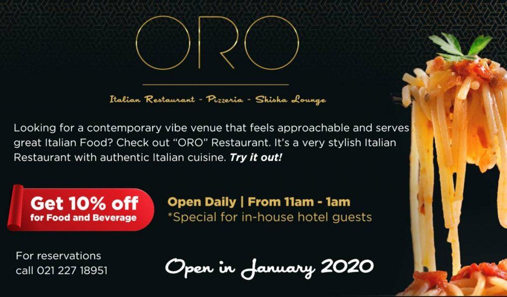 ORO Italian Restaurant - Pizzaria - Shisha Lounge
